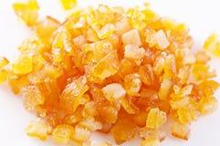 Orange peel. Candied orange peel as close up royalty free stock images