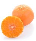 Orange peel. Orange unwraped to leave peel on white background Royalty Free Stock Photography