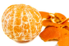 Orange and peel Stock Images