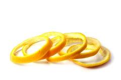 Orange peel. Orange peel is cut in rings stock image