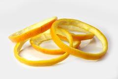 Orange peel. Orange peel is cut rings Royalty Free Stock Photography