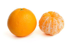 Orange without a peel Stock Photo