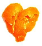 orange peel för hjärta Royaltyfri Foto