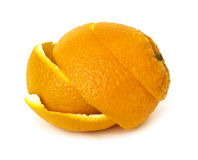 Orange peel isolated Stock Photos