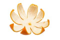 Orange peel. Isolated white background Stock Images