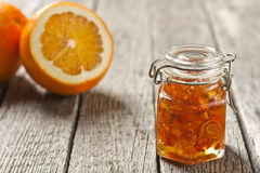 Orange peel jam Stock Photo