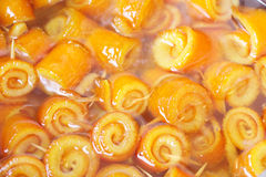 Orange peel jam. Close-up of home made orange peel jam Stock Images