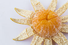 Orange peel. Is like the sun. Oranges contain vitamin C royalty free stock image