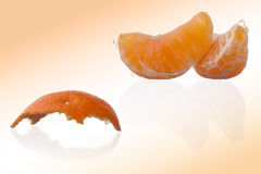 Orange and peel Royalty Free Stock Images