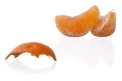 Orange and peel Stock Photos