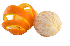 Orange and peel Stock Photo