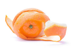 Orange into the peel Stock Photography