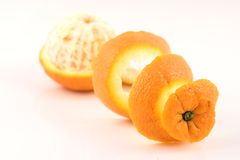 Orange Peeled Perspective Three royalty free stock images
