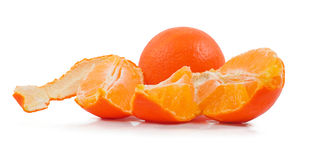 Orange with peeled  skin Royalty Free Stock Photos
