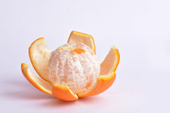Orange peeled Royalty Free Stock Images