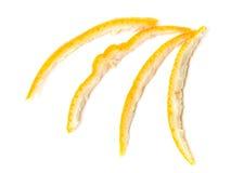 Orange Peelings. Isolated on white background Stock Photography