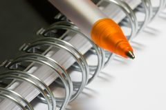 Orange pen Royalty Free Stock Photography