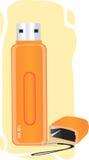 Orange Pen Drive Stock Photos