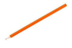 Orange pencil Stock Photography