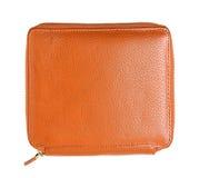 Orange pencil case isolated. On white background Stock Photography