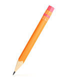 Orange pencil with erase Royalty Free Stock Images