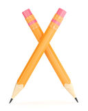 Orange pencil with erase Royalty Free Stock Photography