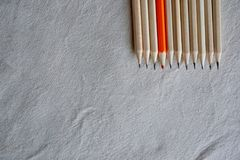 Color Pencils,Stand Out Of Crowd Concept Stock Photos