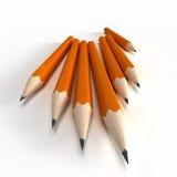 Orange pencils Royalty Free Stock Photography