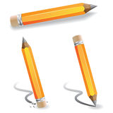 Orange pencils. Orange pencil and whiting, eraser Royalty Free Stock Photo