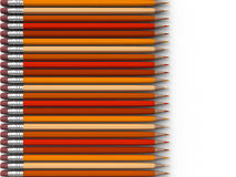 Orange Pencils Stock Photos