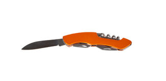 Orange penknife Royalty Free Stock Photography
