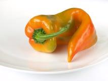 Orange pepper. On studio isolated background stock images