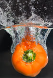 Orange pepper Stock Photo