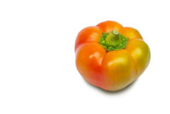 Orange pepper isolated on white Royalty Free Stock Photography
