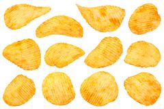 Orange pepper potato chips collection Stock Image