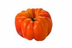 Orange Pepper on White Stock Images