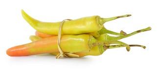 Orange pepper on white background Royalty Free Stock Photo