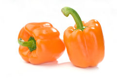 Orange peppers Stock Image