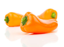 Orange peppers (capsicum) Stock Image