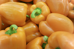 Orange peppers. Peppers change color when they reach maturity Stock Photos