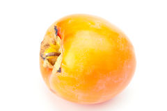 Orange persimmon isolated on white Royalty Free Stock Images