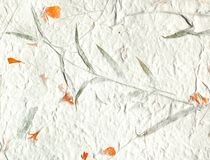 orange petal handmade paper Royalty Free Stock Image