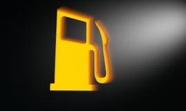 Orange Petrol Indicator Dash Light Royalty Free Stock Image