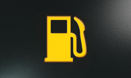 Orange Petrol Indicator Dash Light Royalty Free Stock Images