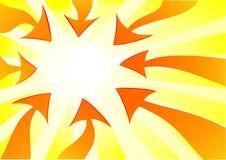Orange Pfeile, die nach links zeigen Stockfoto
