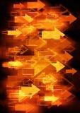 Orange Pfeilhintergrund Lizenzfreies Stockbild