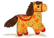 Orange Pferdefigürchen Vektor Abbildung