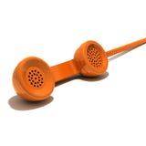 Orange phone Royalty Free Stock Photos
