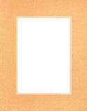 Orange photo frame Royalty Free Stock Photos