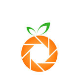Orange photography logo Stock Photo